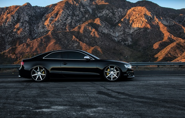 Picture car, audi, black, tuning, rs5