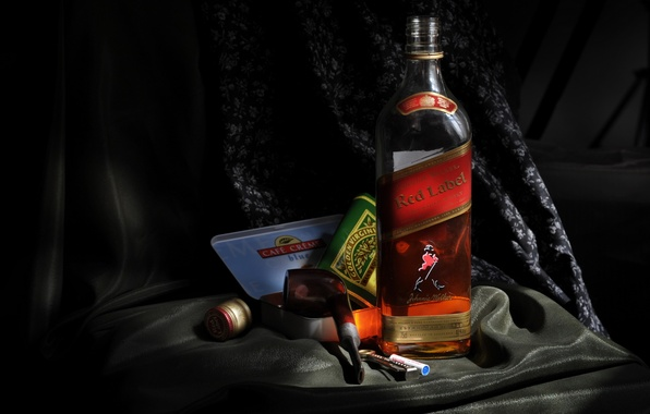 Picture Wallpaper, tube, whiskey, wallpapers, Johnnie Walker, red label, Johnny Walker