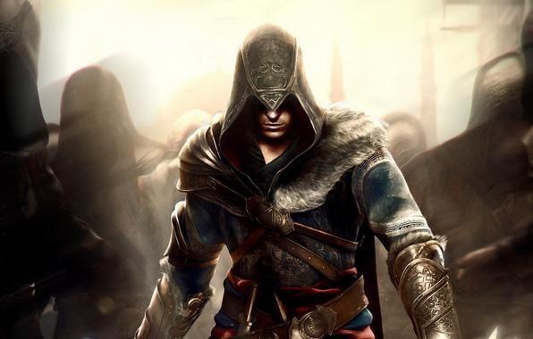 Wallpaper Pattern, Hood, Shadows, Fur, Ezio, Straps