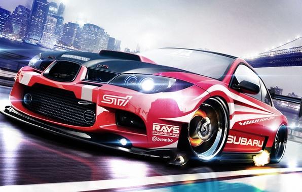 Picture Subaru, Impreza, WRX, Subaru, Impreza, Race car, STi
