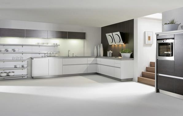 Picture design, style, furniture, kitchen, white, white, design, interior, kitchen, technique., household