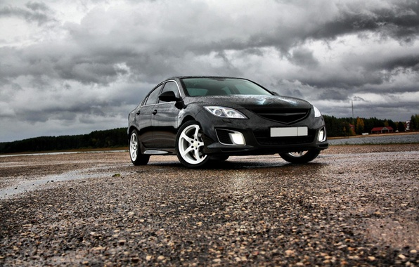 Picture clouds, Batman, Mazda 6