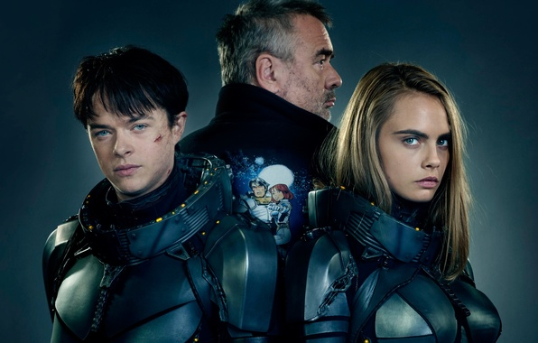 Photo wallpaper cinema, girl, man, boy, sci-fi, movie, series, film, armour, oppai, scar, Cara Delevingne, TV series, ...