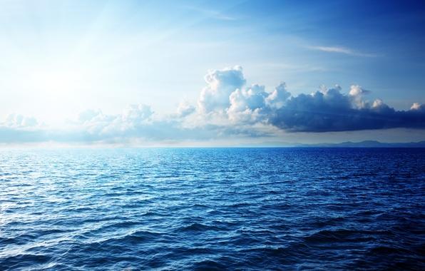 Picture sea, the sky, the sun, clouds, landscape, sky, landscape, clouds, beautiful nature, sunlight, beautiful nature, …
