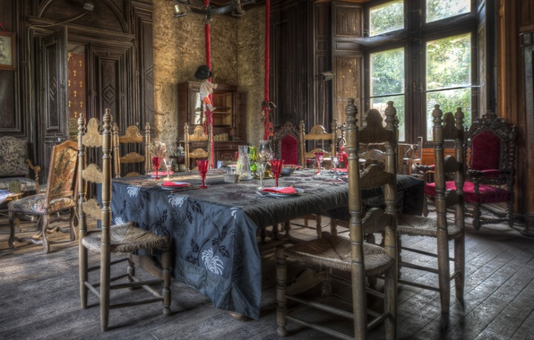 Picture design, style, table, Gothic, HDR, Design, living room, Interior, Living