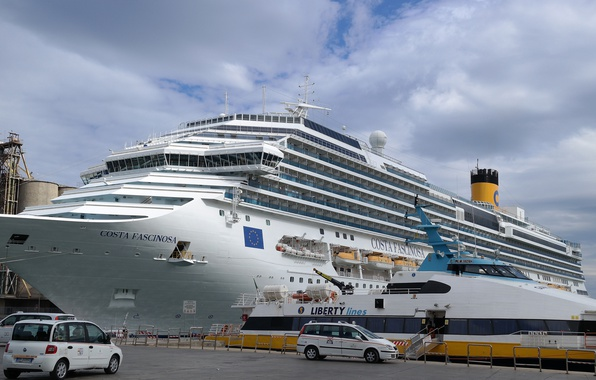 Picture ship, yacht, port, liner