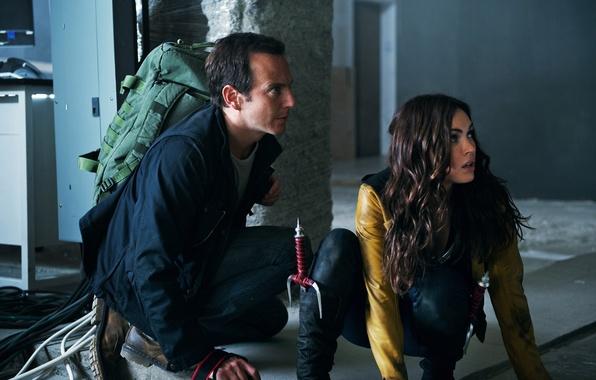 Picture Megan Fox, Megan Fox, frame, knives, Teenage mutant ninja turtles, backpack, Teenage Mutant Ninja Turtles, …