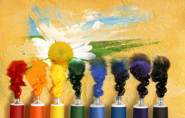 Picture flower, background, Wallpaper, paint, mood, figure, wallpaper, tubes, widescreen, background, full screen, HD wallpapers, gouache, …