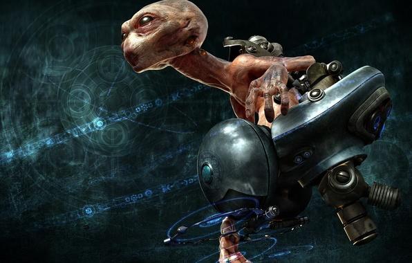Picture fiction, monster, chair, head, alien, flight