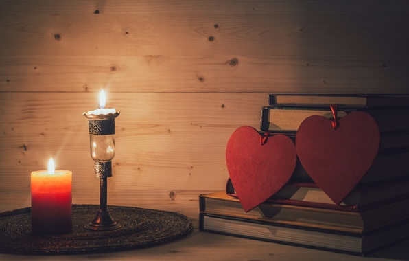 Picture love, heart, candles, love, heart, romantic, Valentine's Day