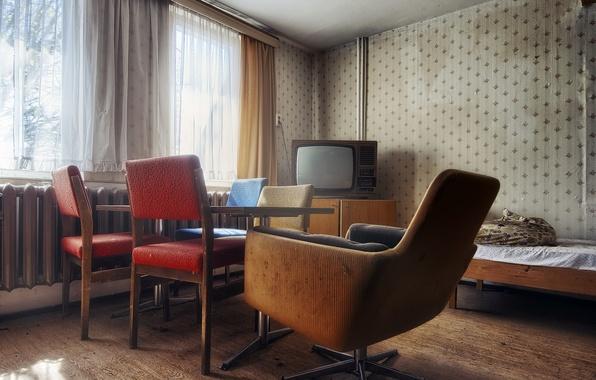 Picture room, furniture, TV