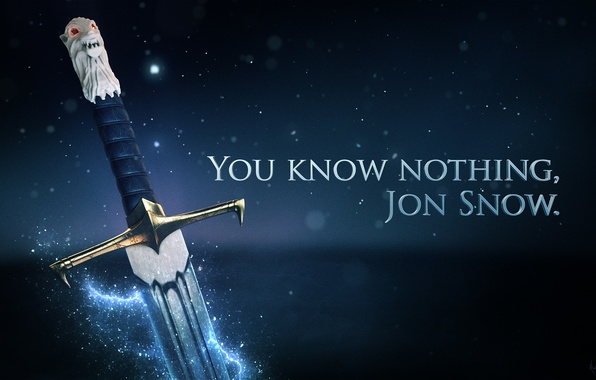 Photo Wallpaper Game Of Thrones Longclaw You Know Nothing Jon Snow