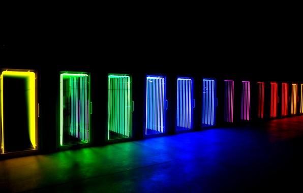 Picture light, neon, door, display