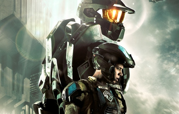 Picture soldiers, armor, fighter, John, Chief, Halo 4: Forward Unto Dawn, John-117, Sierra-117, The Master Chief, …
