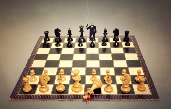 Picture the situation, shot, chess, Board, figure