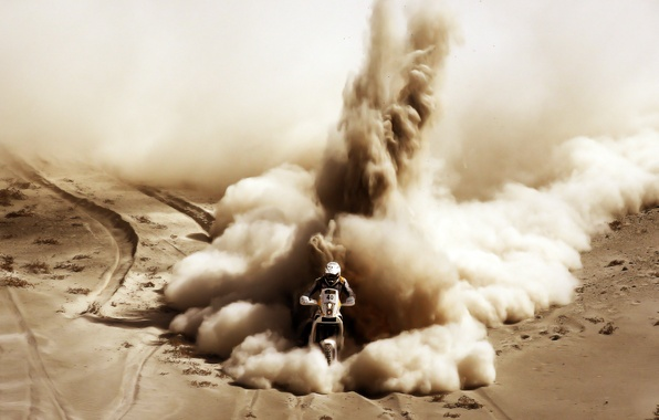 Picture Sand, Sport, Motorcycle, Racer, Moto, Rally, Dakar