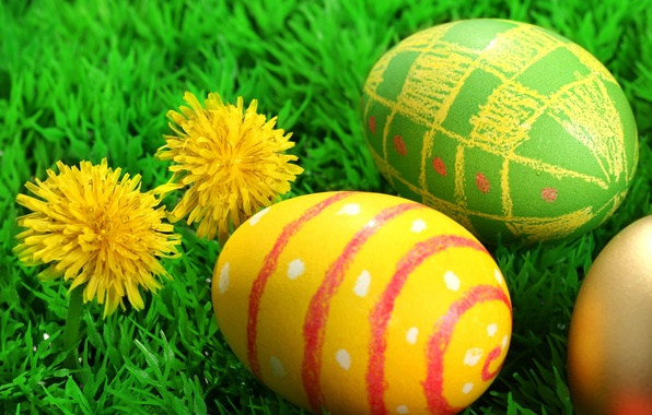 Picture Easter, Eggs, The Resurrection Of Christ, Pascha, Flowers