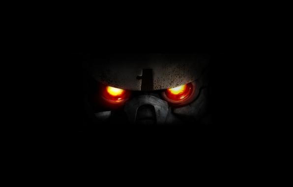 Picture black, killzone, fiery eyes