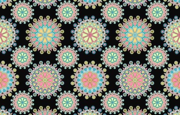Picture pattern, texture, ornament, black background