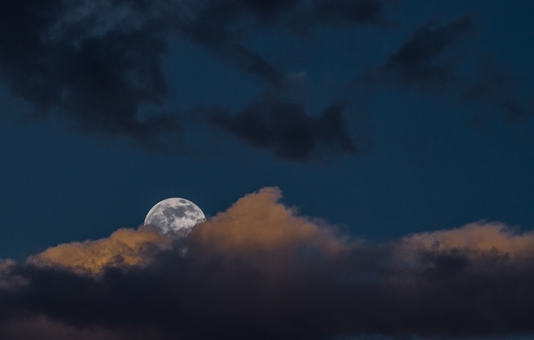 Picture the moon, The sky, cloud
