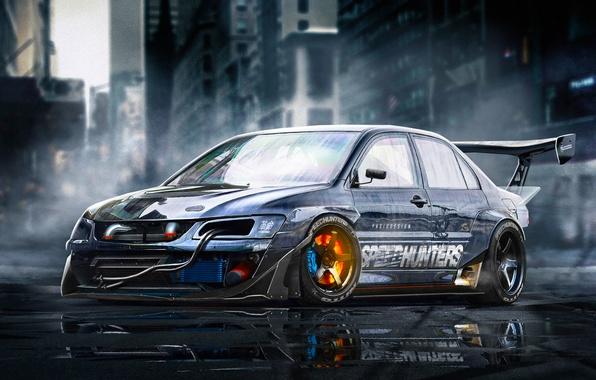 Picture Mitsubishi, Lancer, Car, Sport, Brake, Evolution 9, YASIDdesign