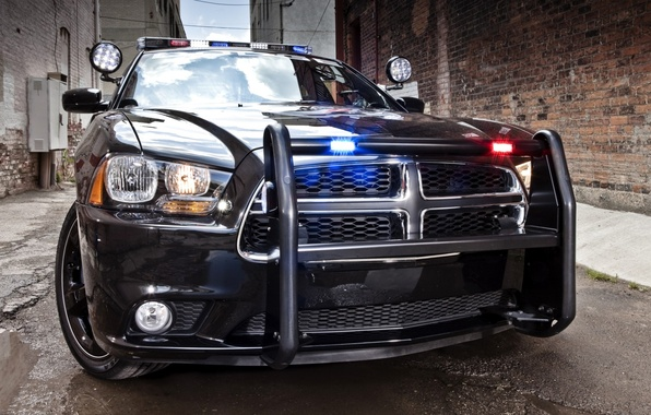 Picture police, sedan, Dodge, Police, dodge, charger, the charger, flashers, kengurâtnik, street.background, pursuit