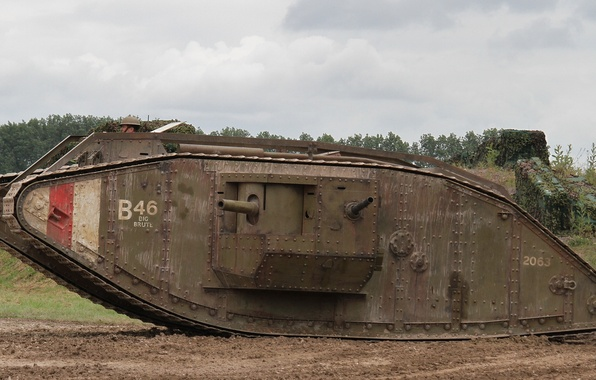 Picture war, tank, British, times, the first world