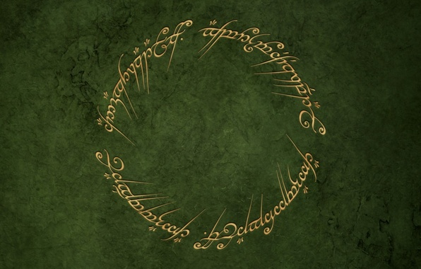 Picture green, round, the Lord of the rings, ring