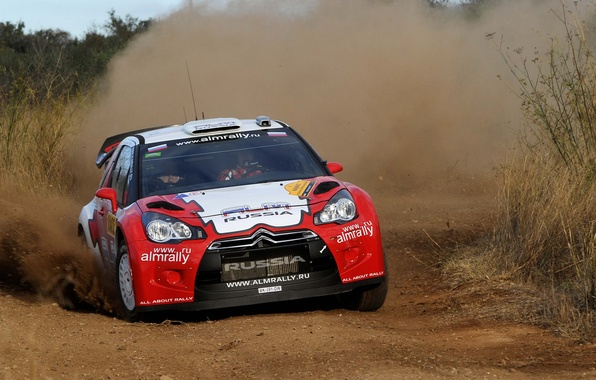 Picture Dust, Sport, Skid, Citroen, DS3, WRC, Rally, Rally, Competition