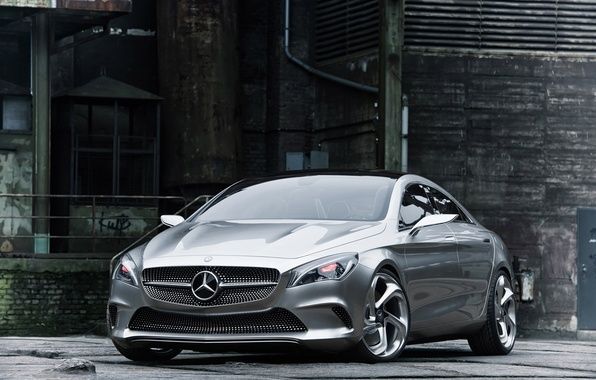 Picture auto, silver, coupe, concept, the concept, 2012, sedan, drives, mercedes-benz, Mercedes, Mercedes CSC