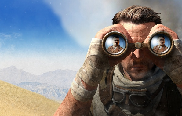 Sniper Elite 3 Wallpaper: Wallpaper The Sky, Sand, Clouds, Mountains, Barkhan, Smoke