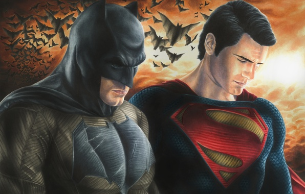 Picture Batman, dark knight, Superman, DC Comics, Henry Cavill, man of steel, Ben Affleck, Batman v …