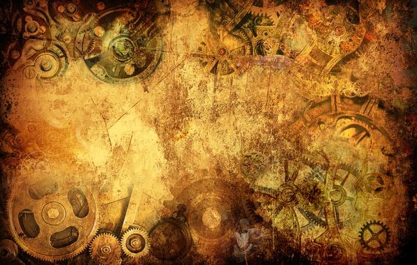 Photo Wallpaper Style Watch Steampunk Grunge