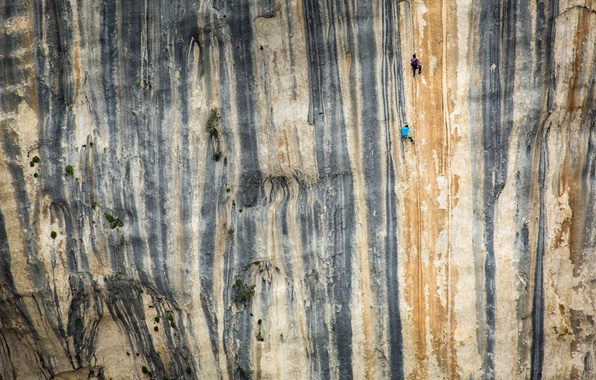 Picture sport, mountain, climbers