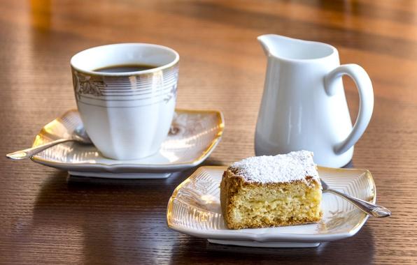Picture coffee, Breakfast, pie, the milkman