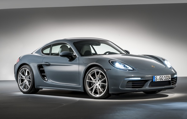 Photo wallpaper Porsche, background, Cayman, Caiman, Porsche, 718, coupe