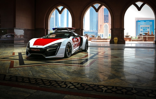 Picture supercar, Police, HyperSport, Lykan