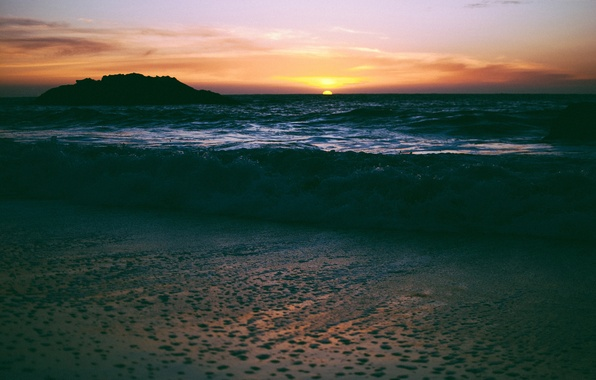 Picture sea, beach, the sun, sunset, the evening, San Francisco, USA, California