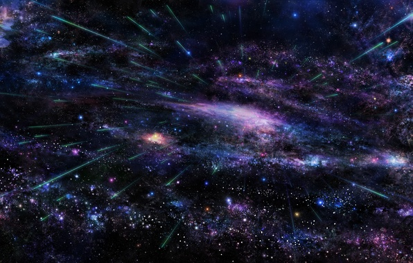 Picture space, stars, cosmos