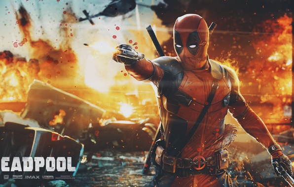 Picture Gun, Sword, Deadpool, Marvel, Deadpool, Wade Wilson