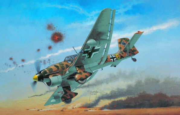 Picture the plane, figure, thing, dive bomber, Junkers, Dive bomber, Air force, Luftwaffe, Wrobel, Ju 87, …