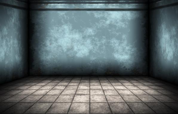 Picture room, wall, floor, empty