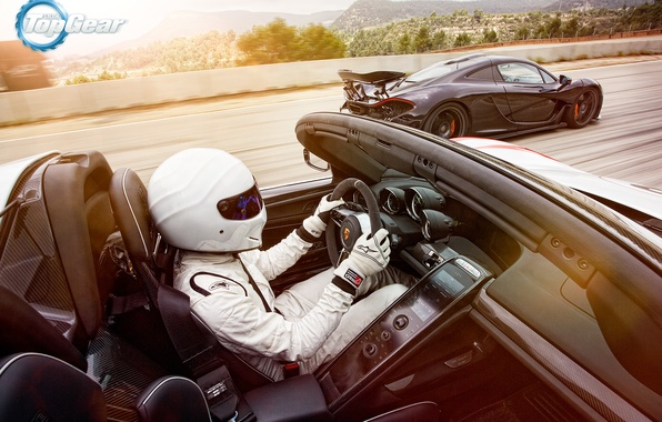 Picture McLaren, Porsche, Top Gear, Speed, Sun, 918, Stig, Supercars, Spider, Racer
