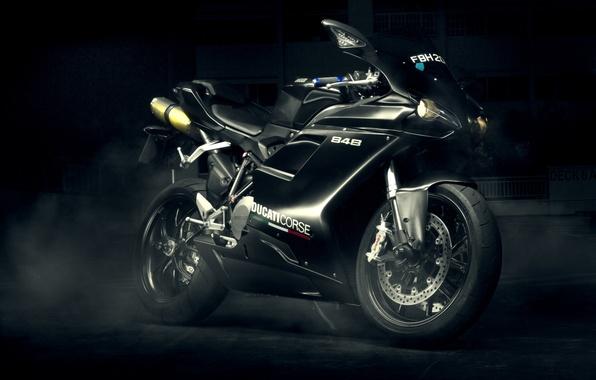 Picture Ducati, black, Evo, sport bike, 848