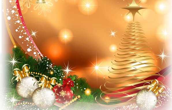 picture balls wallpaper figure tree new year new year