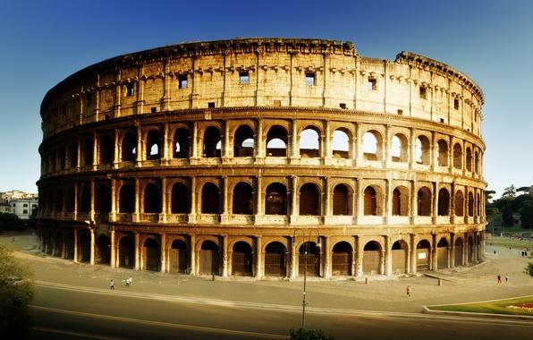 Picture road, Rome, Colosseum, Italy, architecture, Italy, Colosseum, Rome, amphitheatre