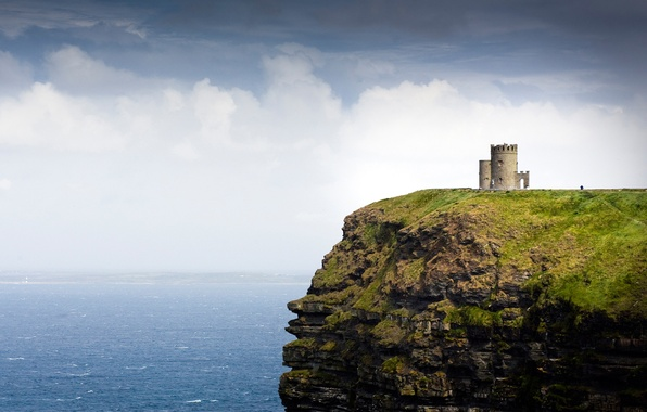 Picture sea, rock, tower, Ireland, Ireland, Galway Bay, O'Brien's Tower