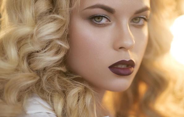 Picture look, girl, portrait, makeup, lips