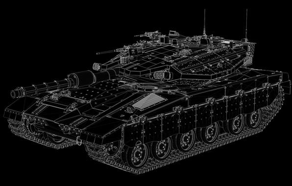 Picture background, tank, combat, Merkava, Merkava-IIID
