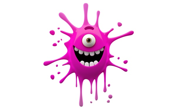 Picture character, monster, smile, funny, cute